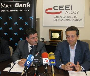 Ramón Gatell (La Caixa) y José Manuel Pérez (CEEI Alcoy)