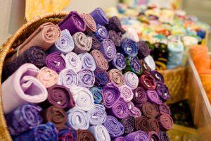 Rulos de tela de artesanía