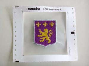 Escudo bordado en lámina Pre Frame