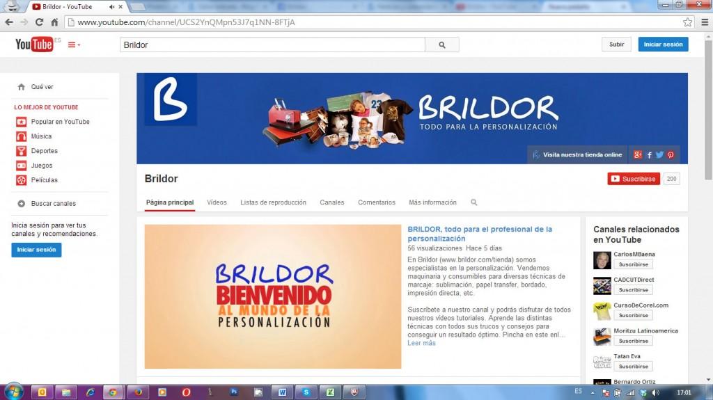 Canal youtube Brildor