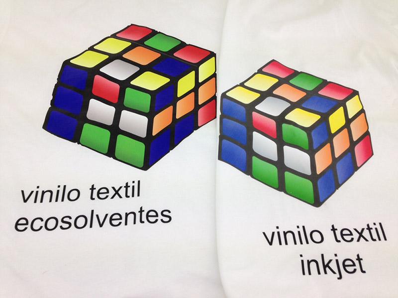 Comparativa colores vinilo ecosolventes y vinilo inkjet