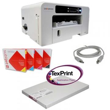 Impresora, tintas y papel para sublimación
