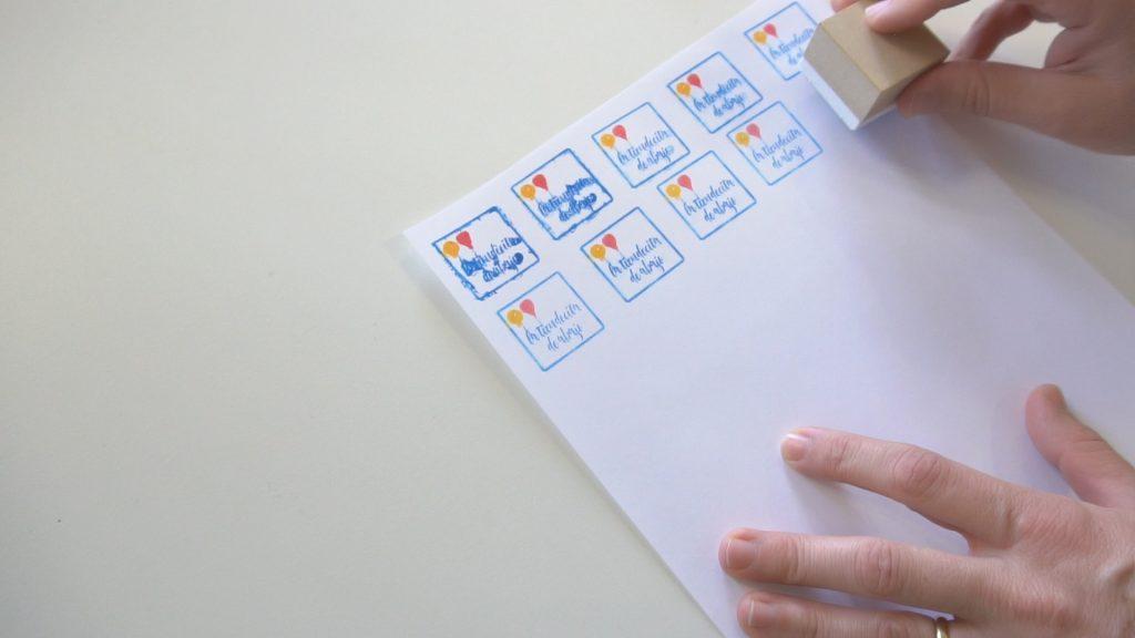 Aplicación del sello