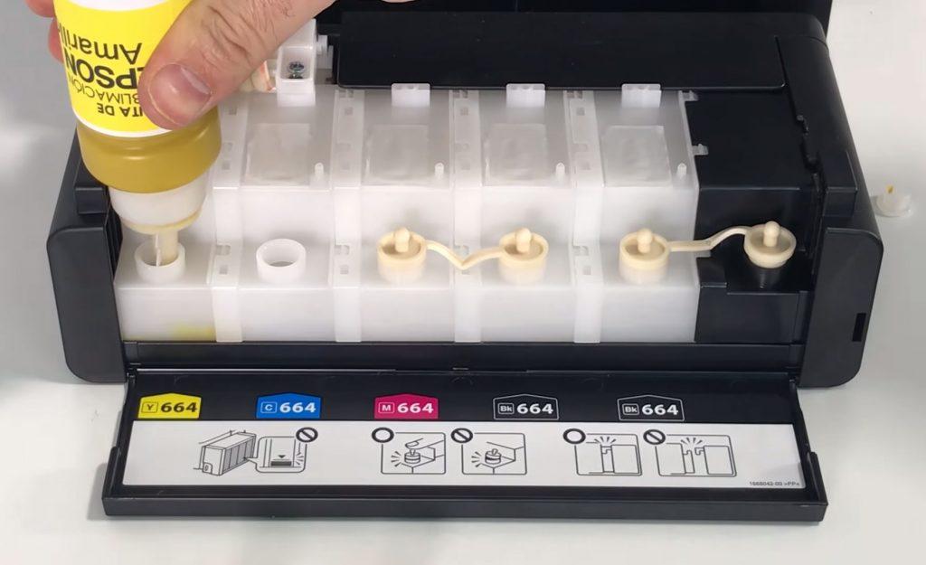 Carga de tinta en ET-14000 para técnica de personalización
