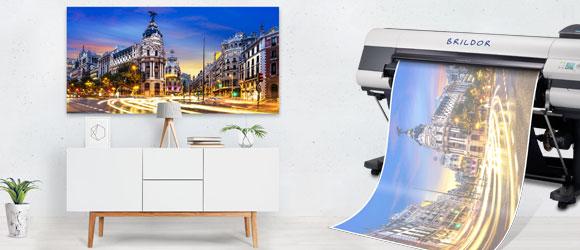 Decoracion de interiores con panel fotografico