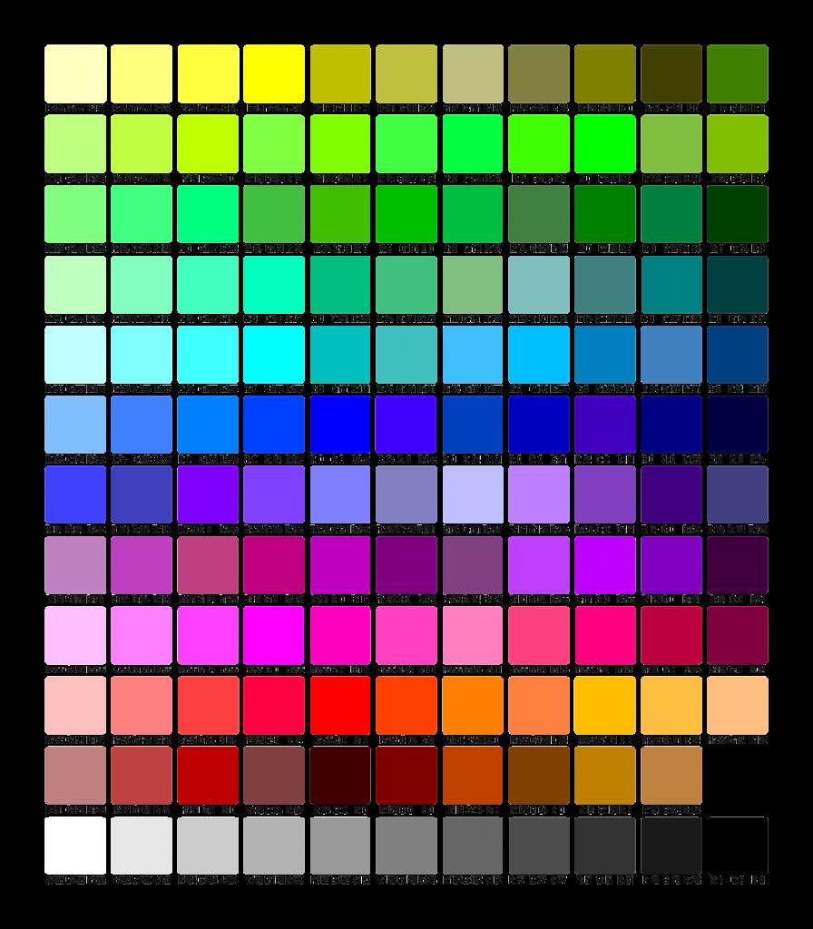 Paleta de colores impresora de camisetas epson f2100