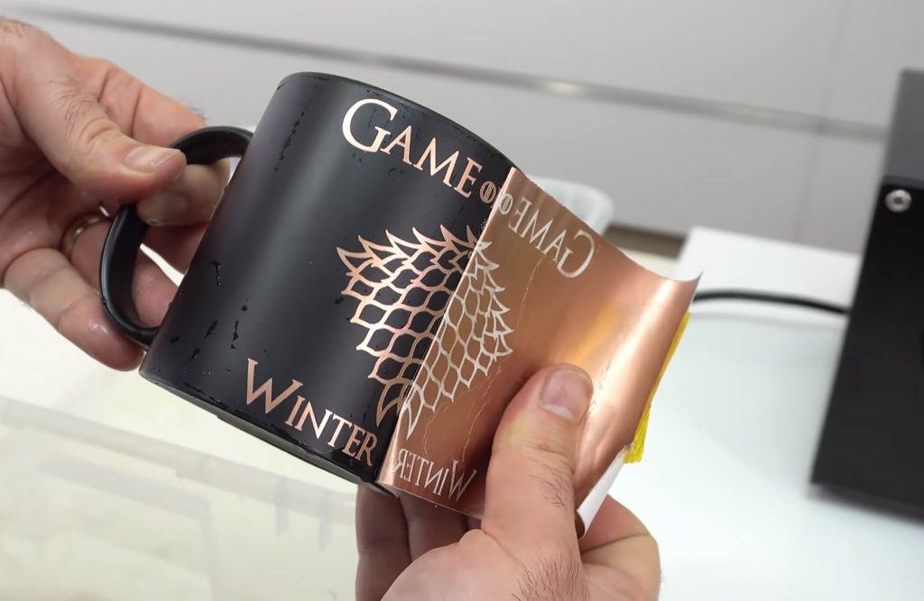 Personalización de tazas con papeles multitransfer metallic