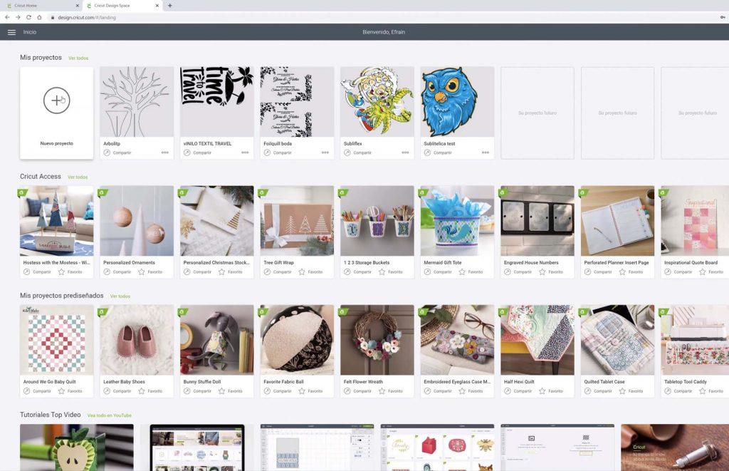 Cricut Design Sapce para trabajar con plotter de corte Cricut Maker