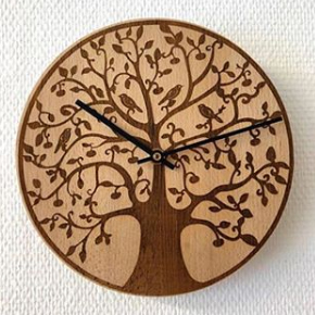 Reloj madera grabado láser