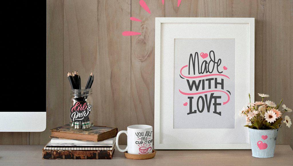 Decoración con manualidades para hacer personalización en casa