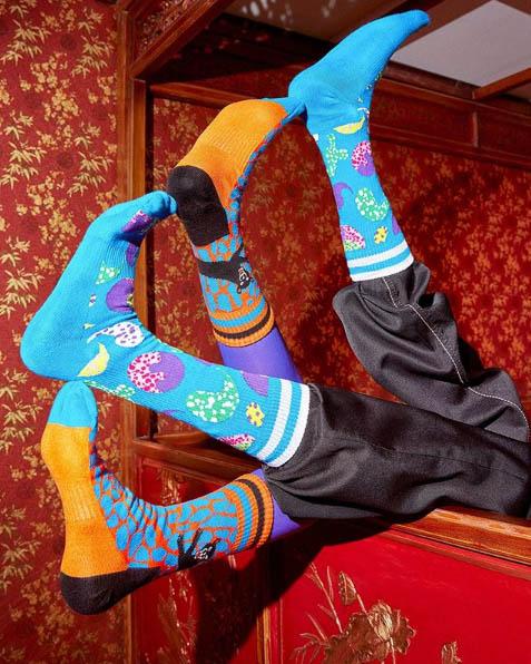 Dibujos estampados en calcetines