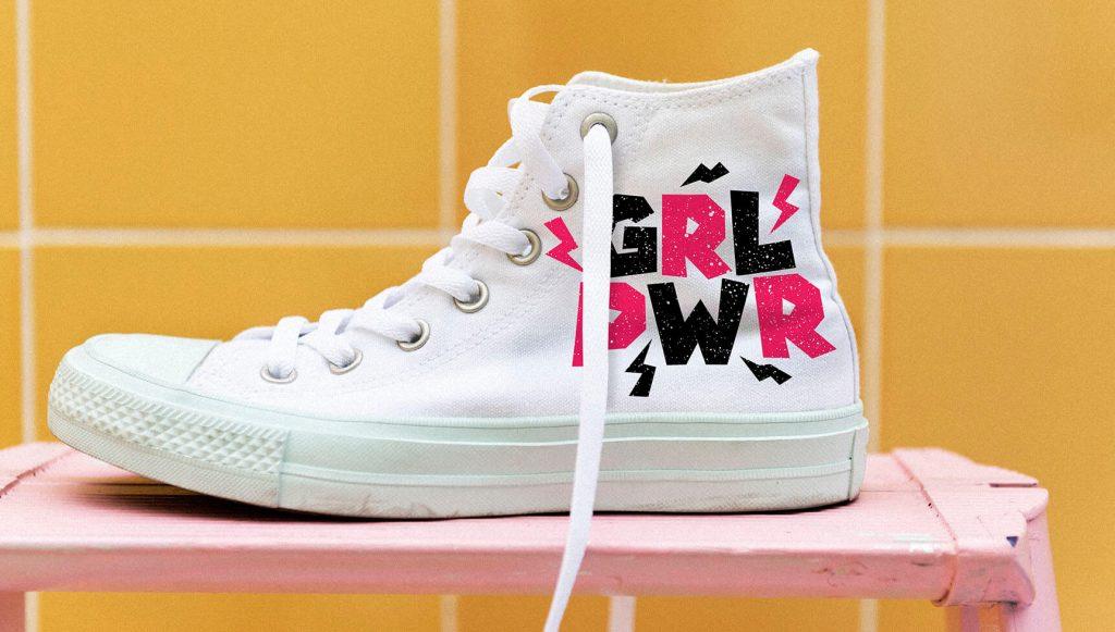 Zapatillas con manualidades para hacer personalización en casa