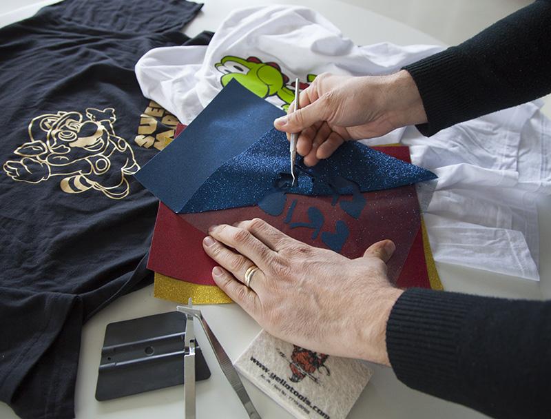 Técnica de personalización por vinilo textil