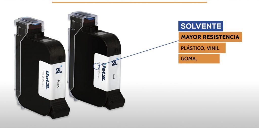Tintas solventes impresora de rígidos