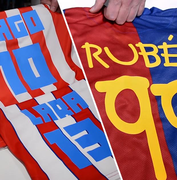 Camisetas de fútbol personalizadas con vinilo antisublimación block out de poli-tape