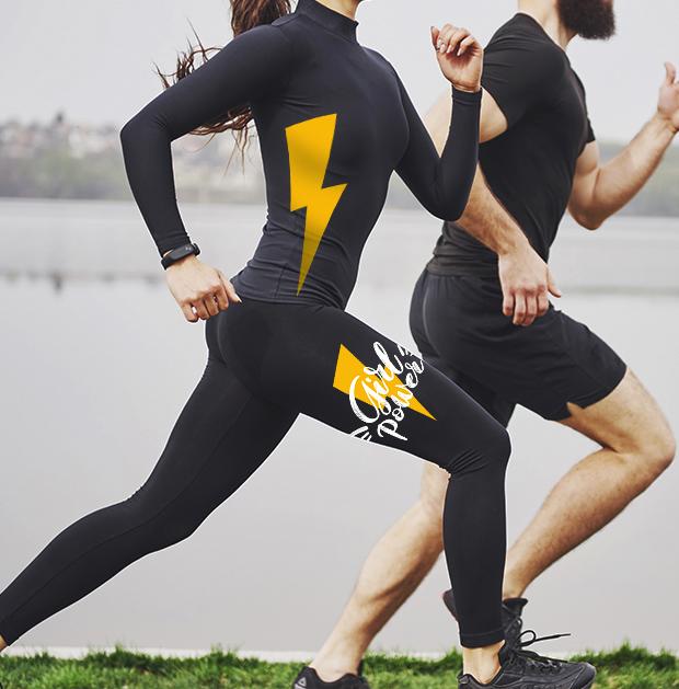 Camiseta y leggins personalizado con Vinilo Elastic Nylon de Poli-Tape