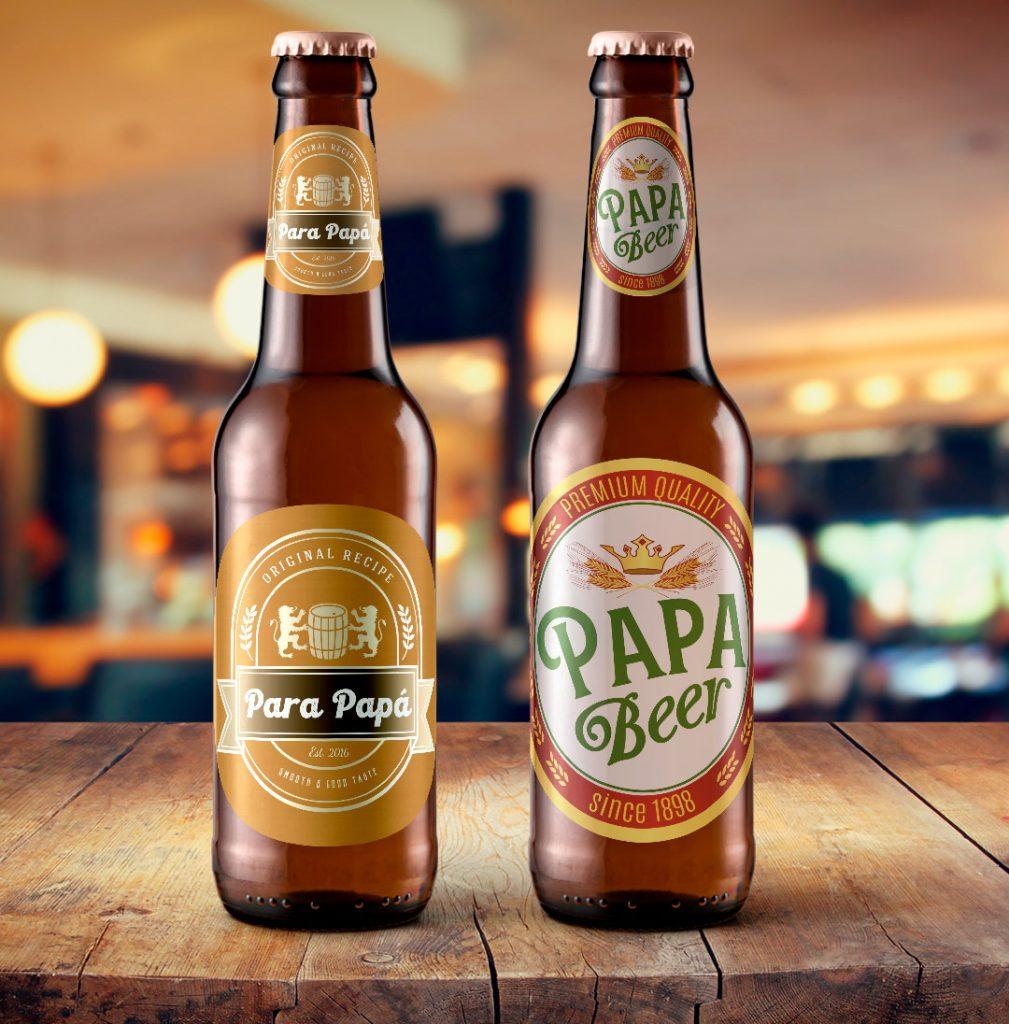 Botellines de cerveza como ideas de personalización para el día del padre