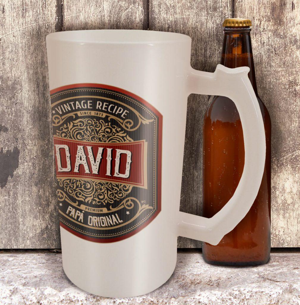 Jarras cerveza como ideas de personalización para el día del padre
