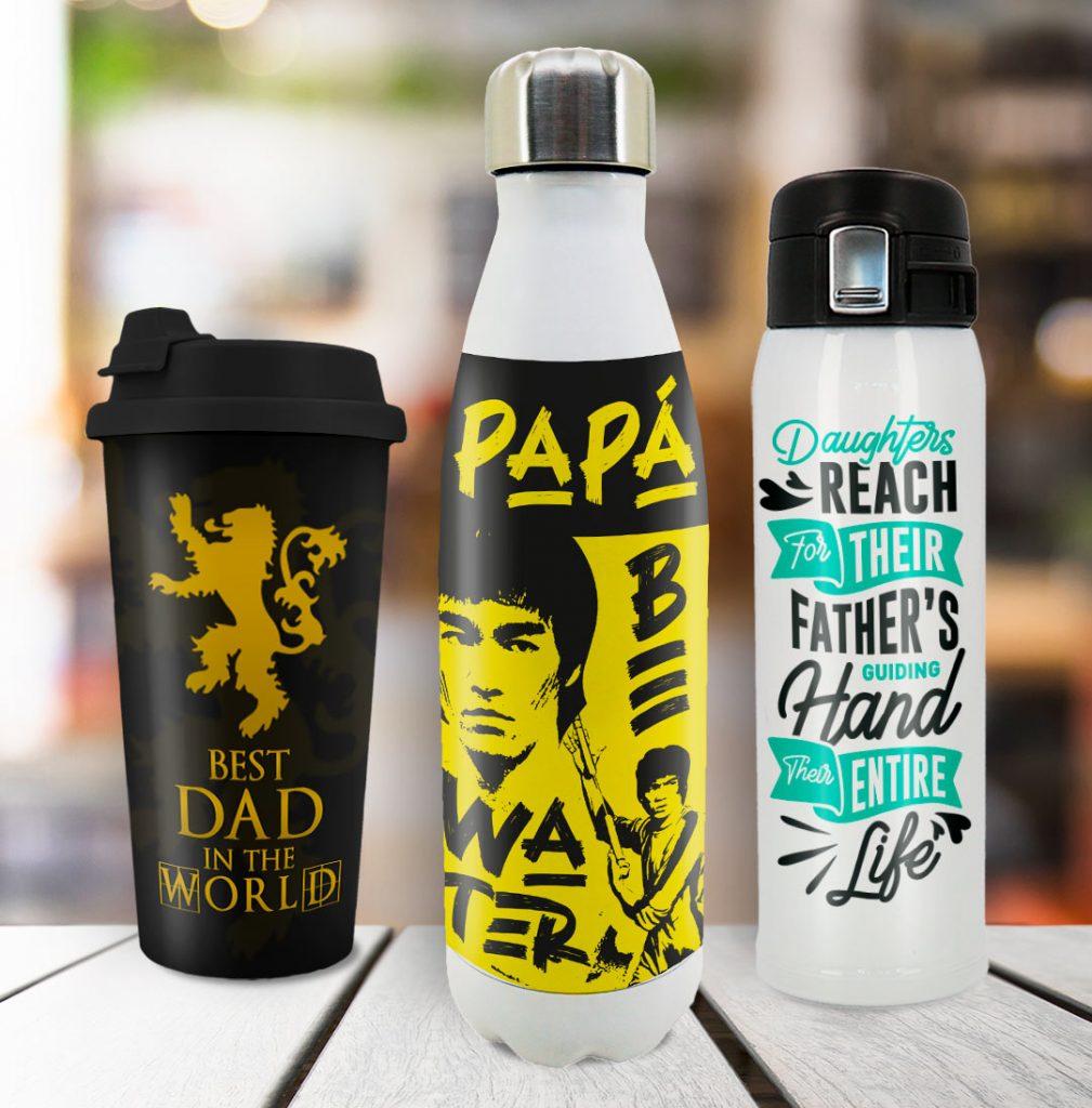 Ideas de personalización de vasos y termos para el día del padre