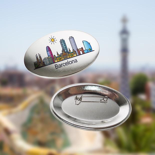 Chapas personalizadas para souvenirs