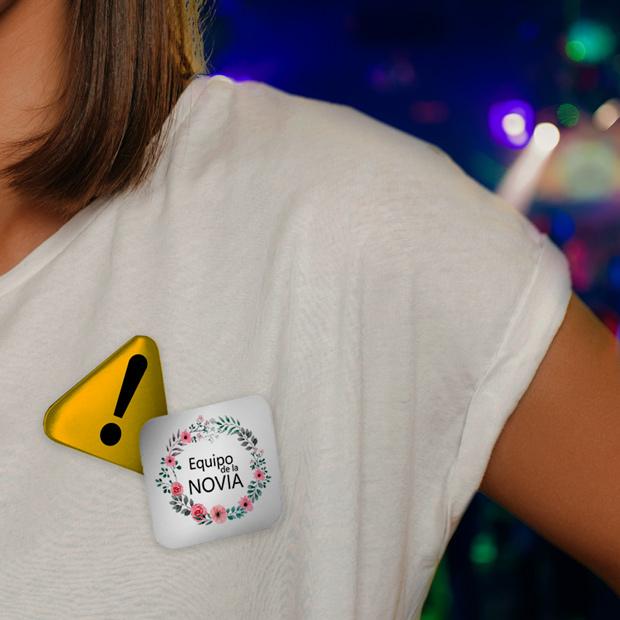 Chapas personalizadas para despedida de soltero