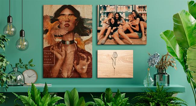 Carteles de madera personalizado con fotos