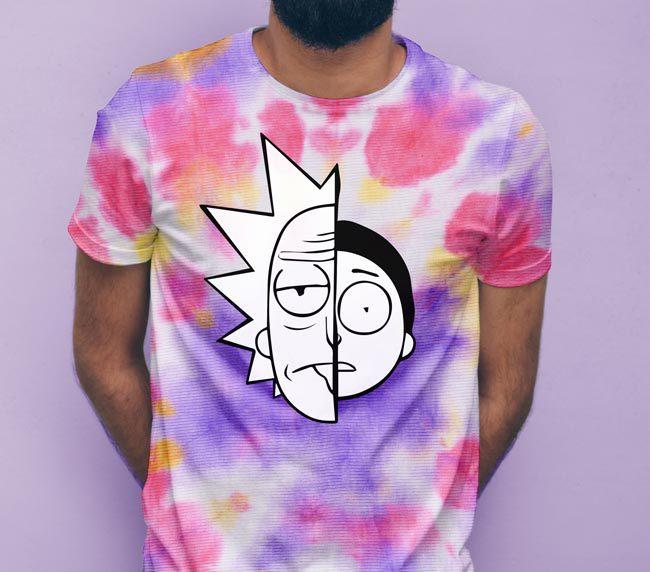 camiseta tie-dye personalizada con vinilo textil
