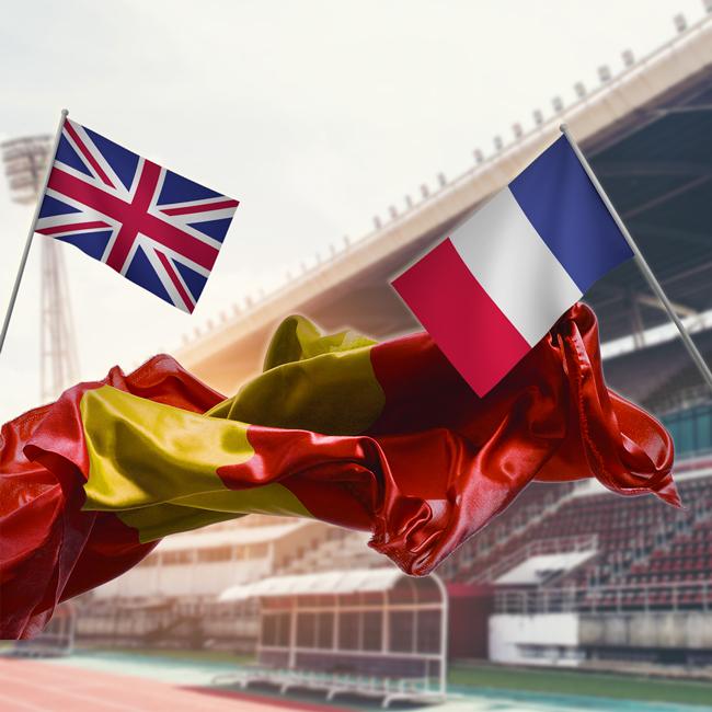 Banderines y banderas nacionales
