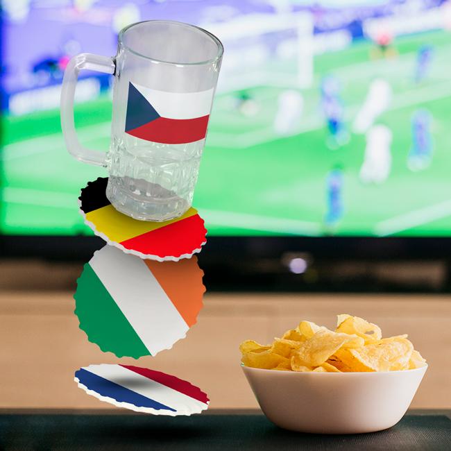 Jarras y posavasos personalizados Eurocopa