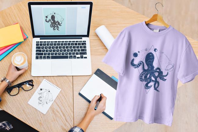 Boceto para crear camiseta personalizada