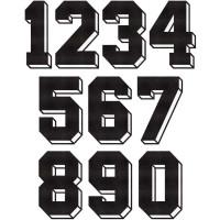Números Dorsales Termoadhesivos de Tela Block 3D