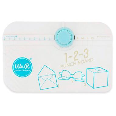 1-2-3 Punch Board We R - Creador de sobres, lazos y cajas