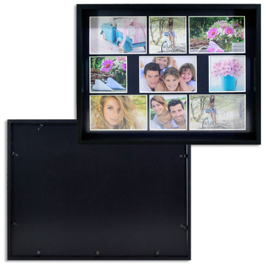 Bandejas portafotos collage de madera - Anverso y reverso bandeja negra