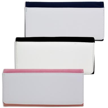 Billeteros de piel sintética con estuche - Detalle 3 colores