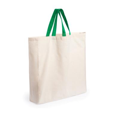 Bolsa de compra de algodón orgánico con fuelle