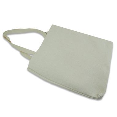 Bolsa de compra de tejido símil lino - Vista lateral