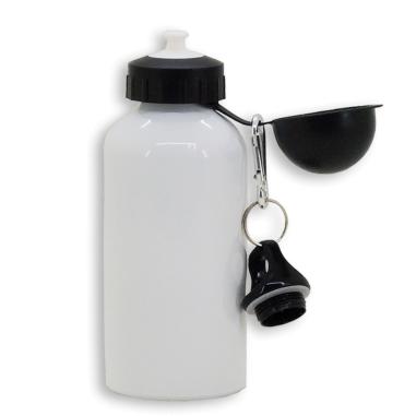 Botella para sublimación de aluminio blanco de 500ml con 2 tapones