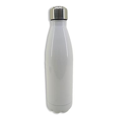 Botella termo 500ml de acero inoxidable blanca