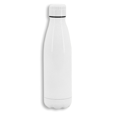 Botella termo 700ml de acero inoxidable blanca para sublimación