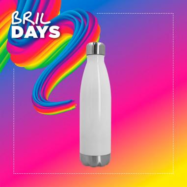 Botella termo 500ml de acero inoxidable blanca - Brildays 2020