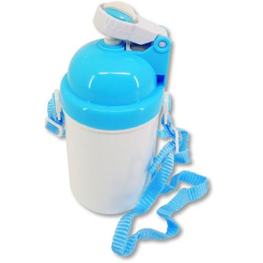 Botellas de plástico infantil personalizables - Azul lateral