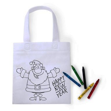 Bolsa para colorear Papa Noel - Pack de 10 uds
