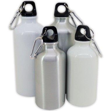 Botella de viaje de aluminio con tapón de rosca
