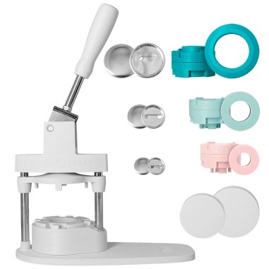 Button Press Bundle We R - Máquina para hacer chapas - Kit 104 piezas + moldes