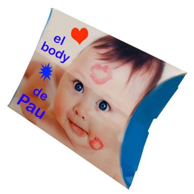 Caja almohada personalizable 325 x 190 mm - Personalizada