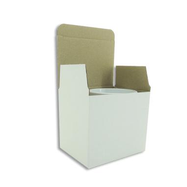 Caja blanca automontable para tazas - Pack de 50 uds