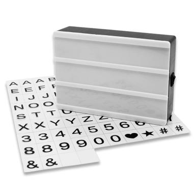 Caja de luz para mensajes