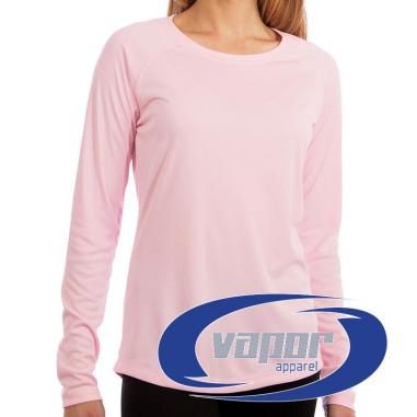 Camiseta de chica Vapor Apparel con protección solar manga larga