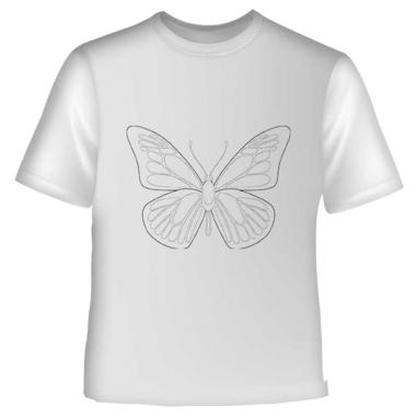 Camiseta infantil para colorear dibujo Mariposa