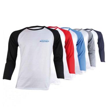 Camiseta manga larga para sublimación de 180g tacto algodón Bicolor